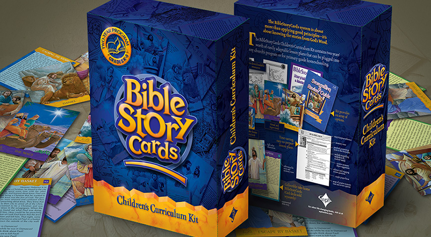Bible Story Cards packaging for Wesleyan Publishing House