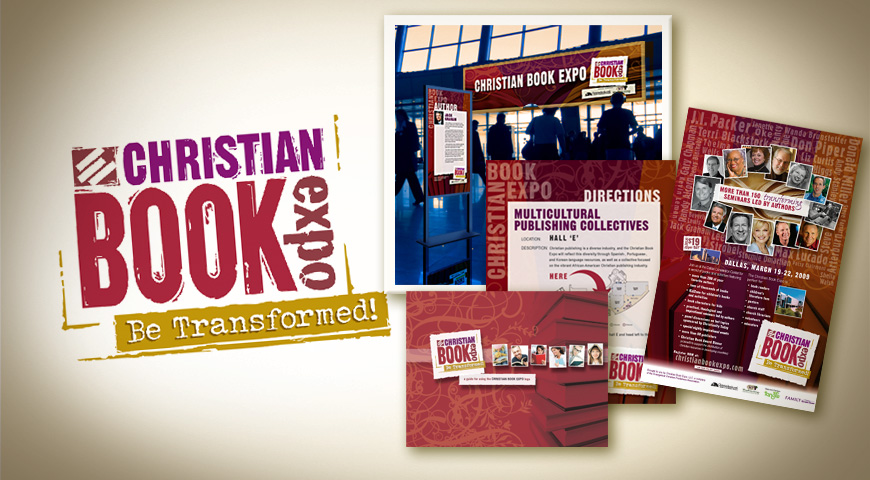 The Christian Book Expo identity and marketing materials
