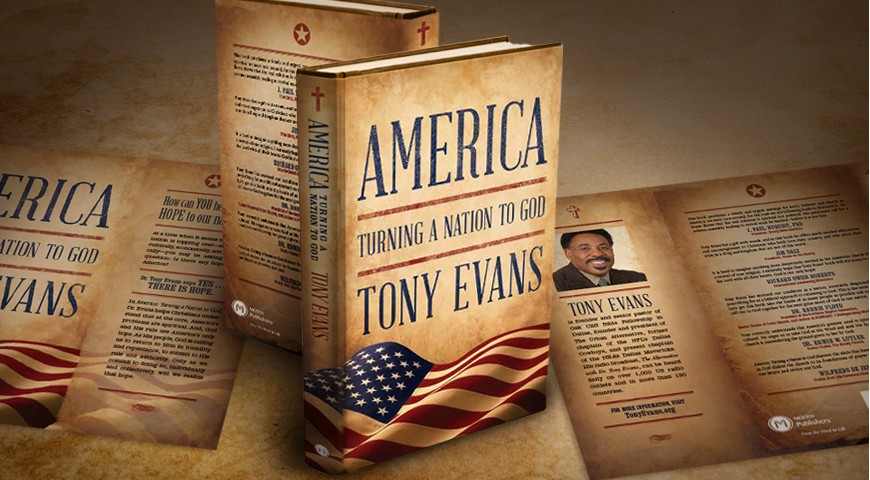 dust jacket for America: Turning a Nation to God by Dr. Tony Evans